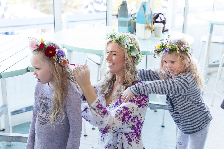 flower corwn making school holiday workshop