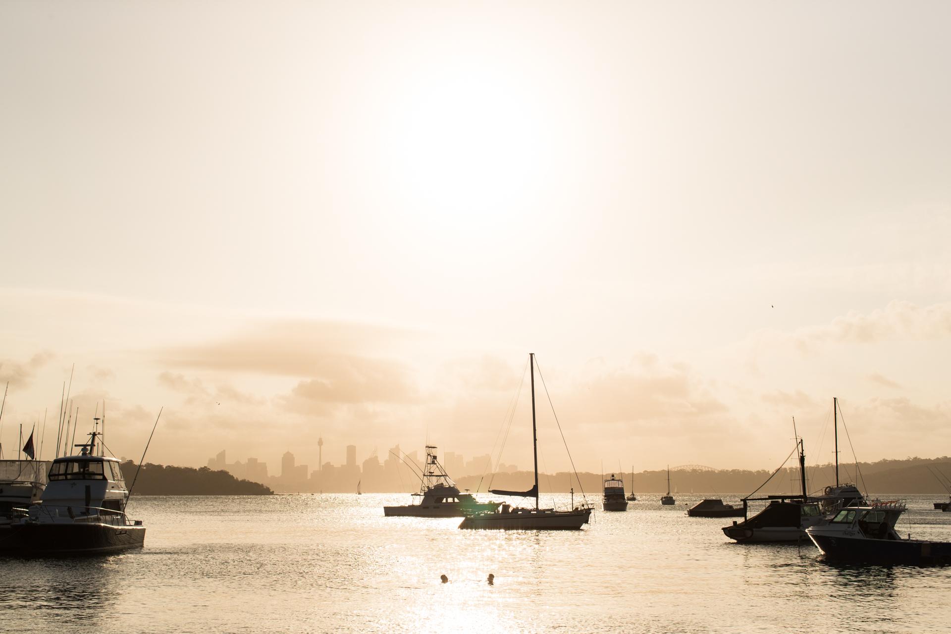 Watsons Bay sunset during NYE celebrations.