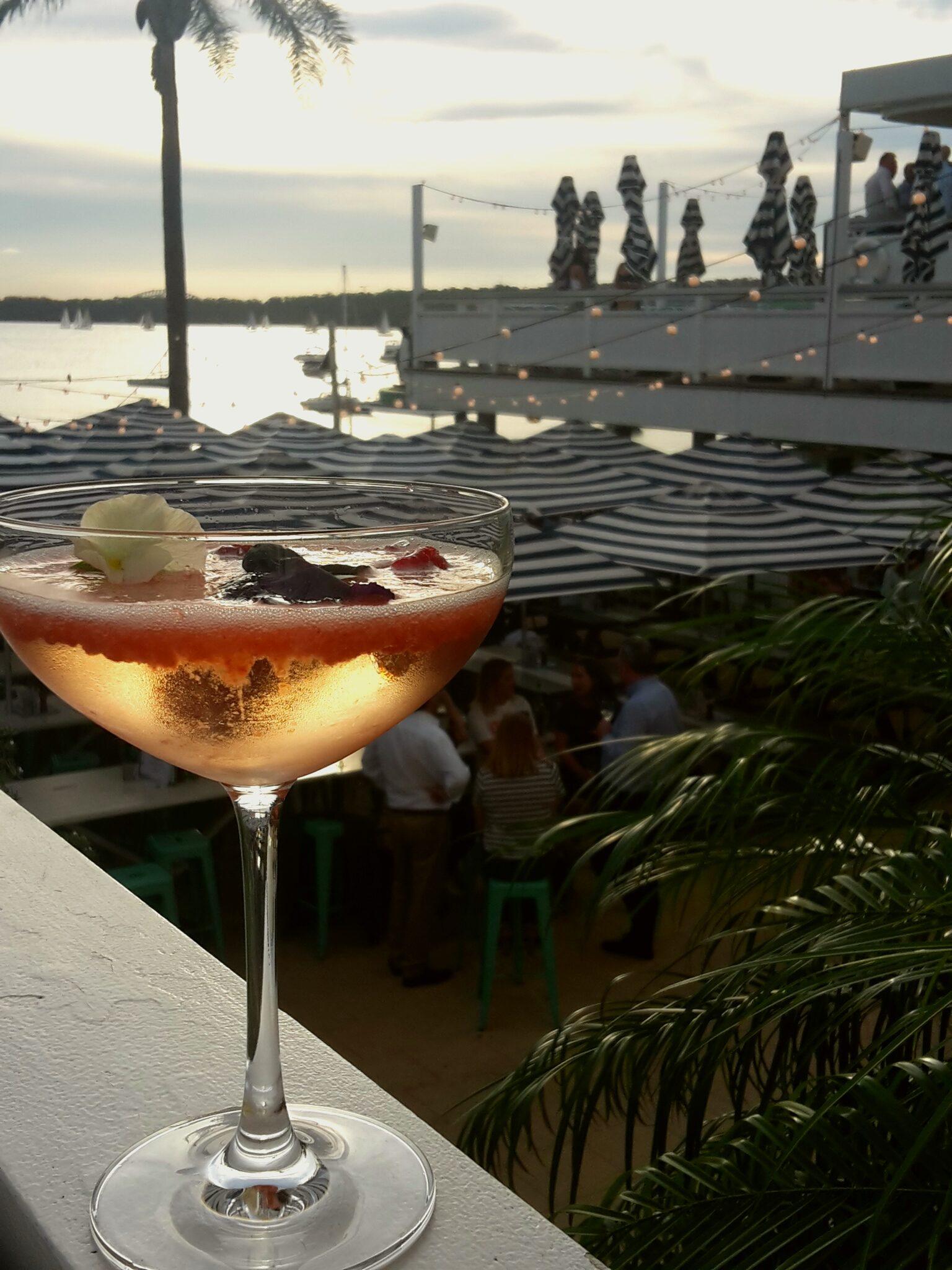 Fruity cocktail on Watsons balcony.