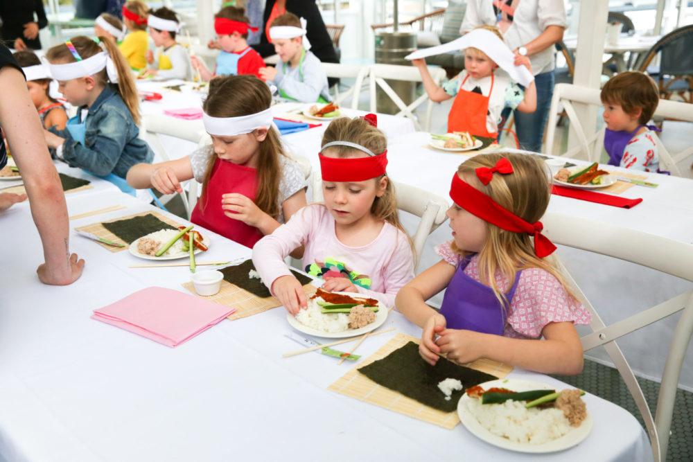 sushi class during watsons bay school holidays program