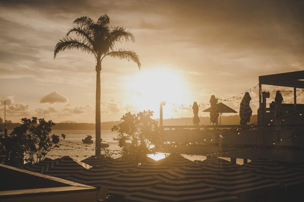 Sunset over Watsons Bay Beach Club