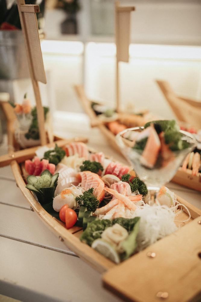 Sushi boat from showcase