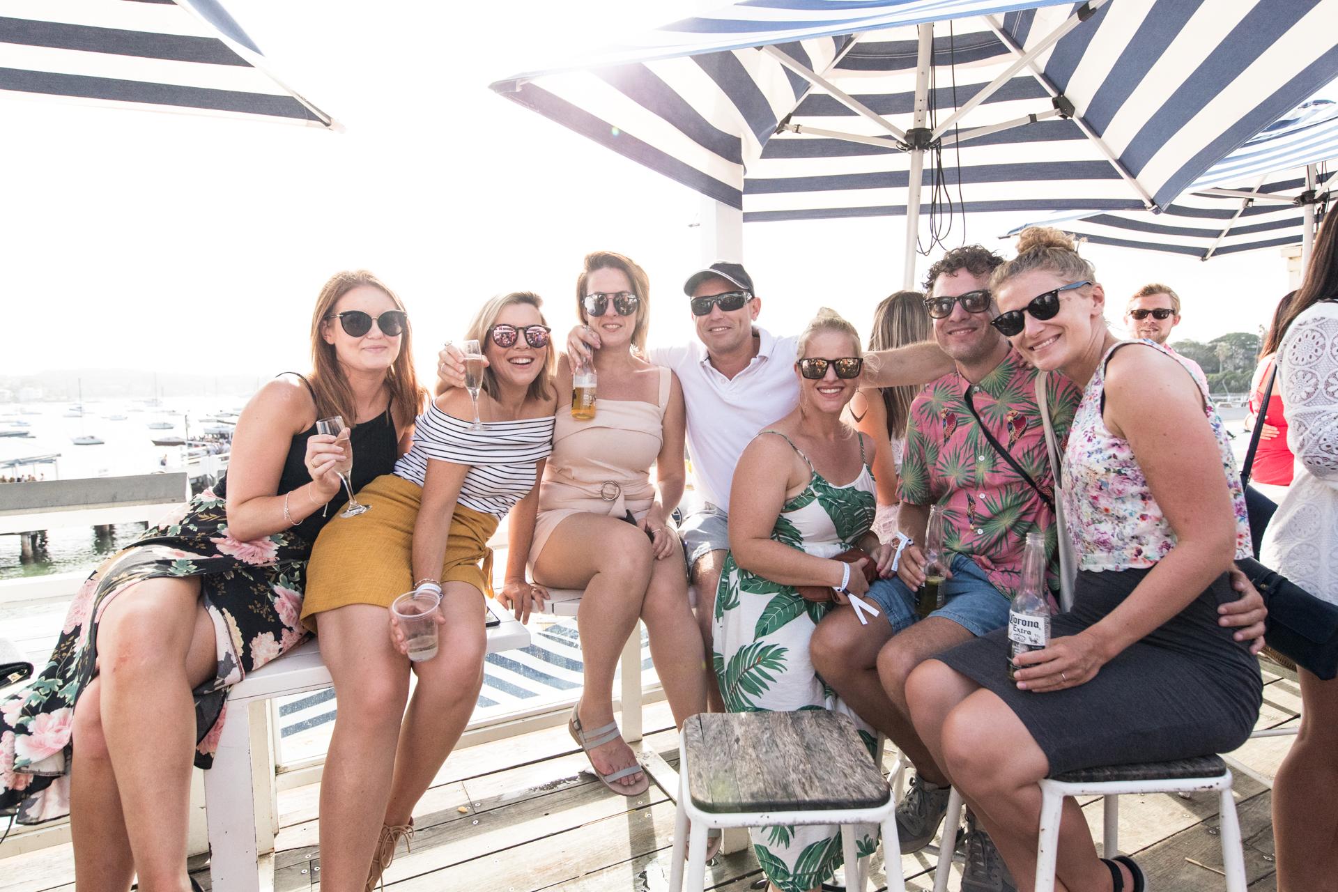 People in Top Deck