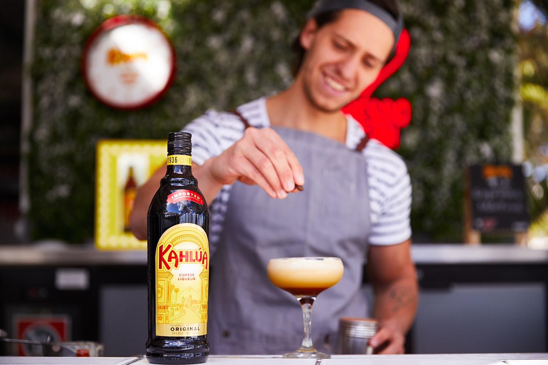 Bartender Pouring an espresso martini