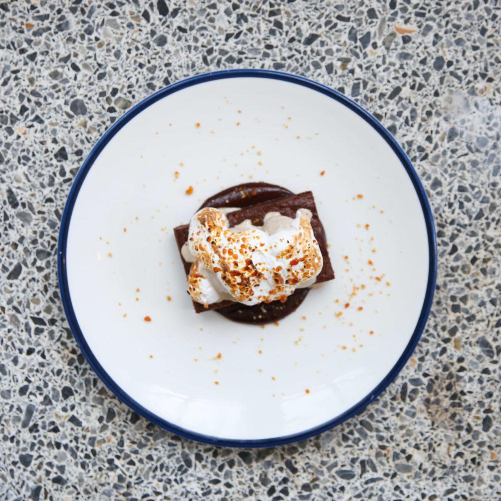 Chocolate and Vanilla Desert