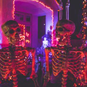 skeleton decoration at watsons bay