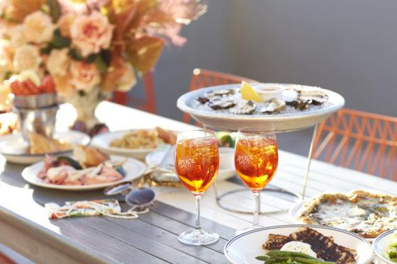 Aperol Spritz food feast