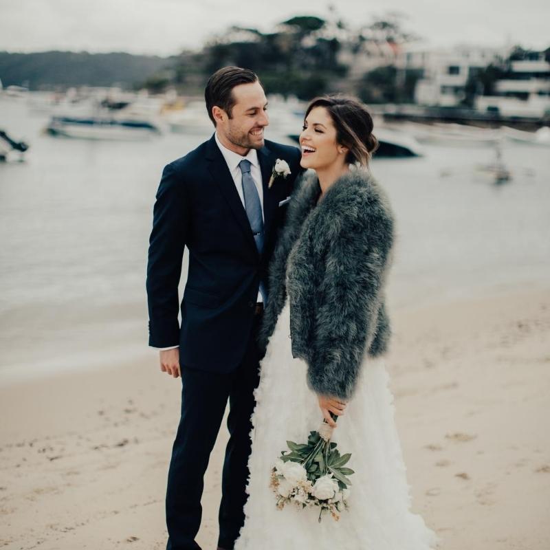 couple at watsons bay beach