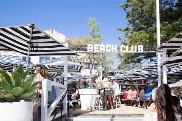 sign that says beach club