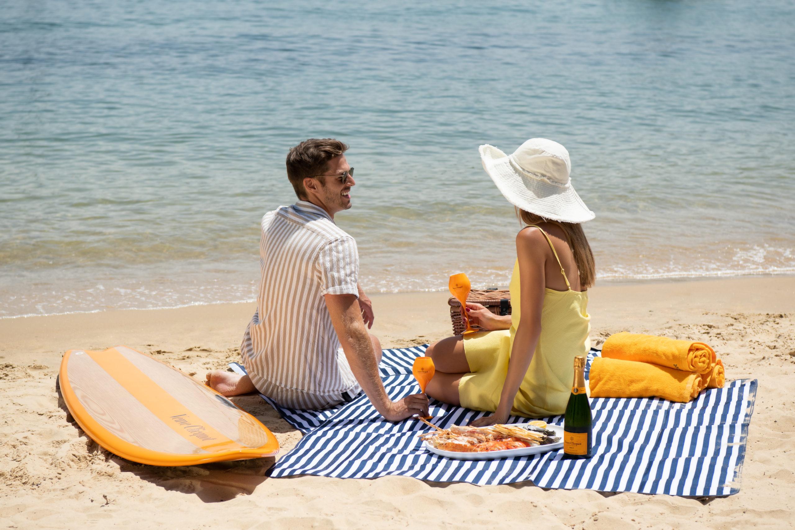 watsons beach beach clicquot in the sun