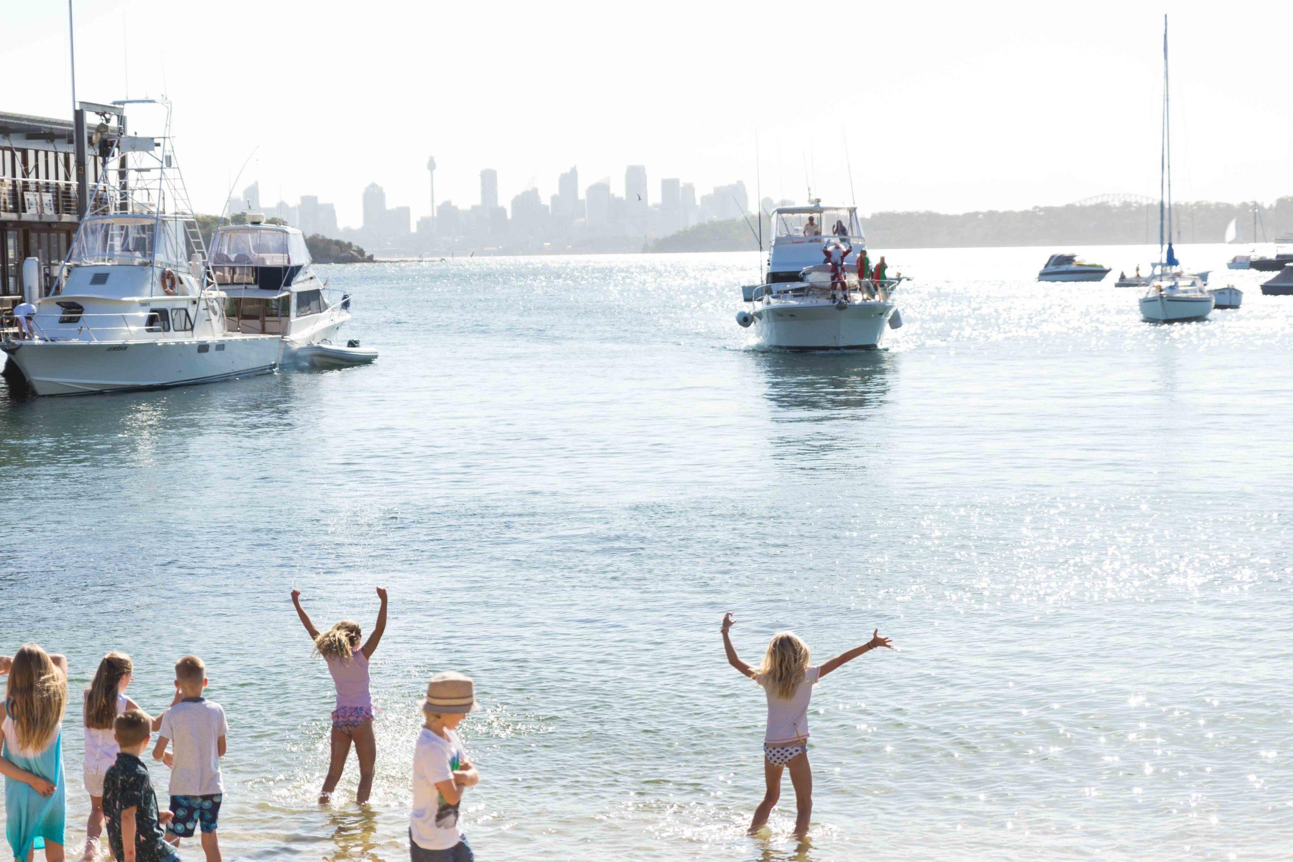 kids at watsons bay beach
